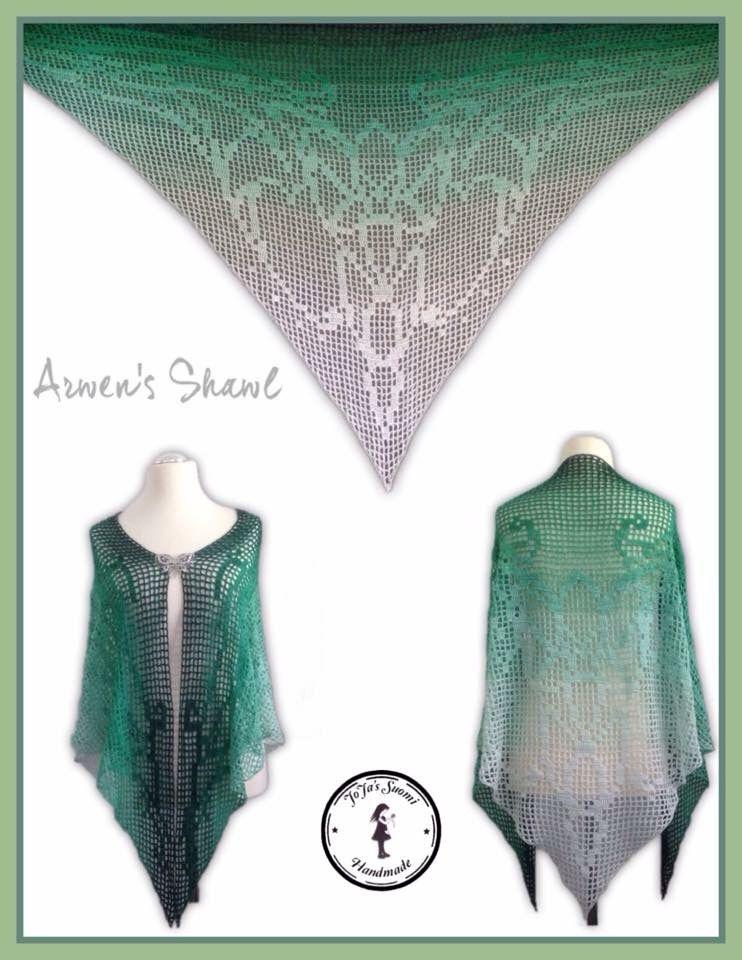 Arwen\'s Shawl #crochet | Morben Design | Pinterest | Schultertuch ...