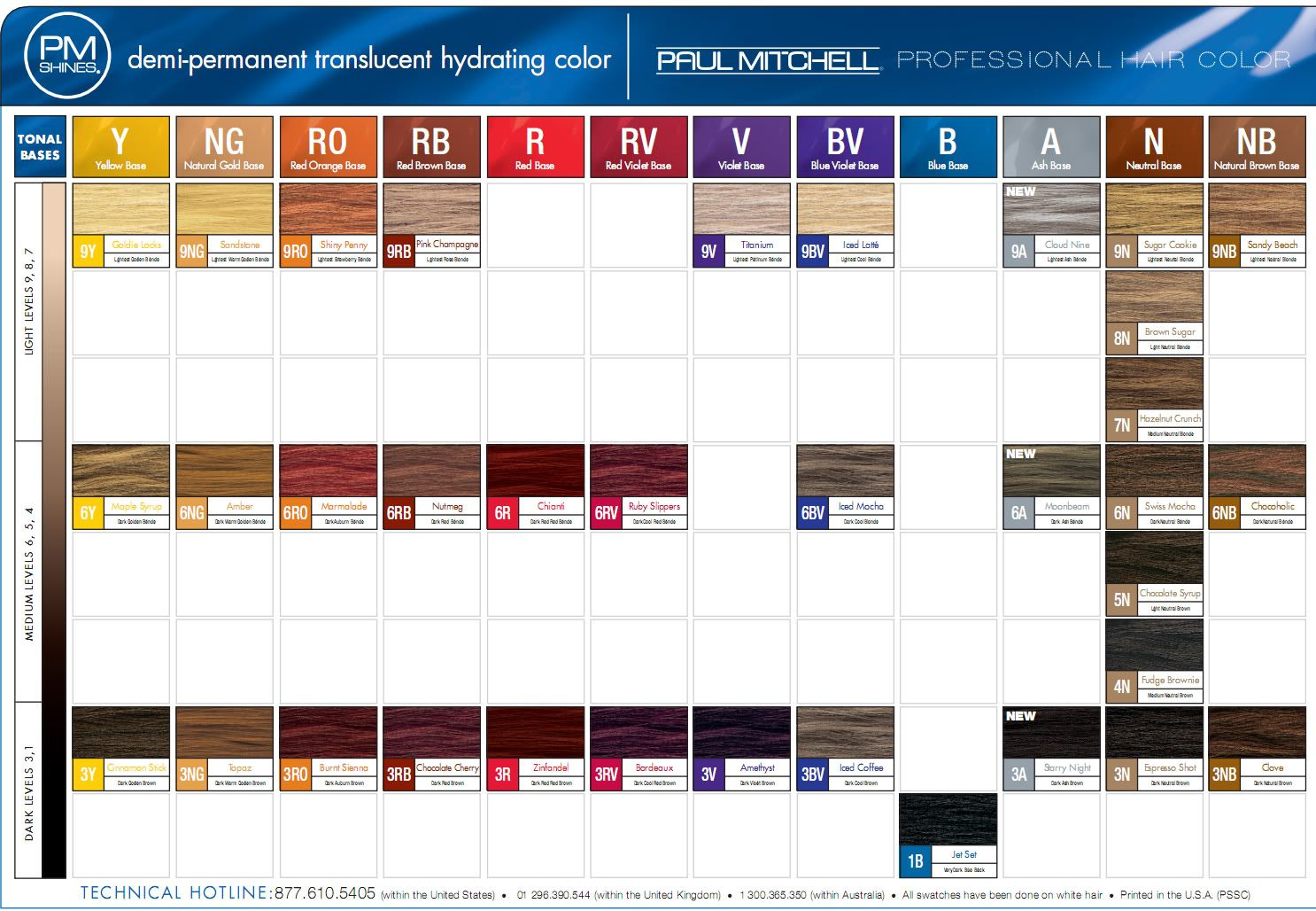 Paul Mitchell Hair Color Chart For Your Hair