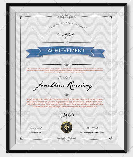 Universal Certificate Templates Certificate templates