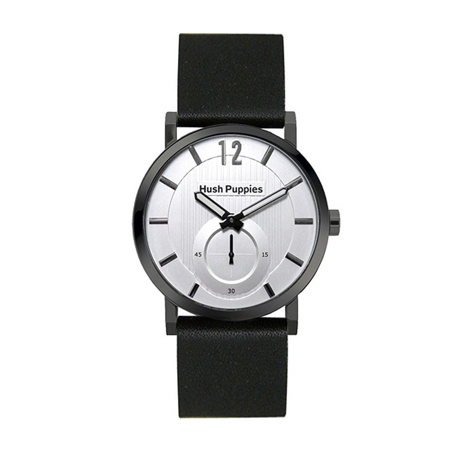 Hush Puppies Round Mens Watch With Second Dial (With