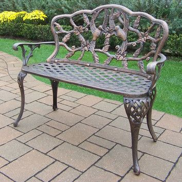 Oakland Living Hummingbird Aluminum Garden Bench Reviews Wayfair