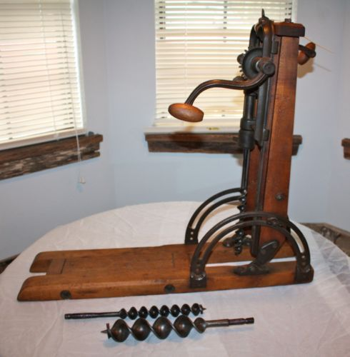 machine tools 1800s. 1800\u0027s primitive barn beam drill press boring hand tool with bits machine tools 1800s