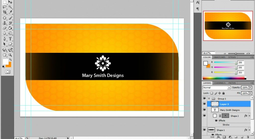 A Cool Photoshop Business Card Tutorial for Print Ready Cards | Card ...