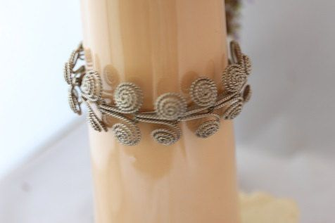 Sterling Silver Vintage coiled bracelet.SPAIN or by GIABIJOUX, $75.00