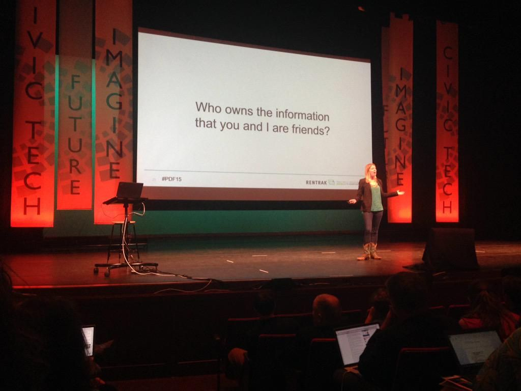 @nytimes Carol Davidsen on what marketers actually do with your data. #PDF15