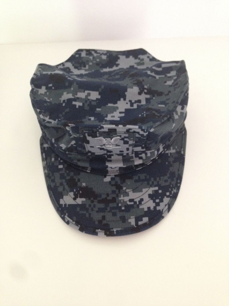 1d623c5a7 Details about US Navy NWU Blue Camo Digital Cap Working Utility Hat ...