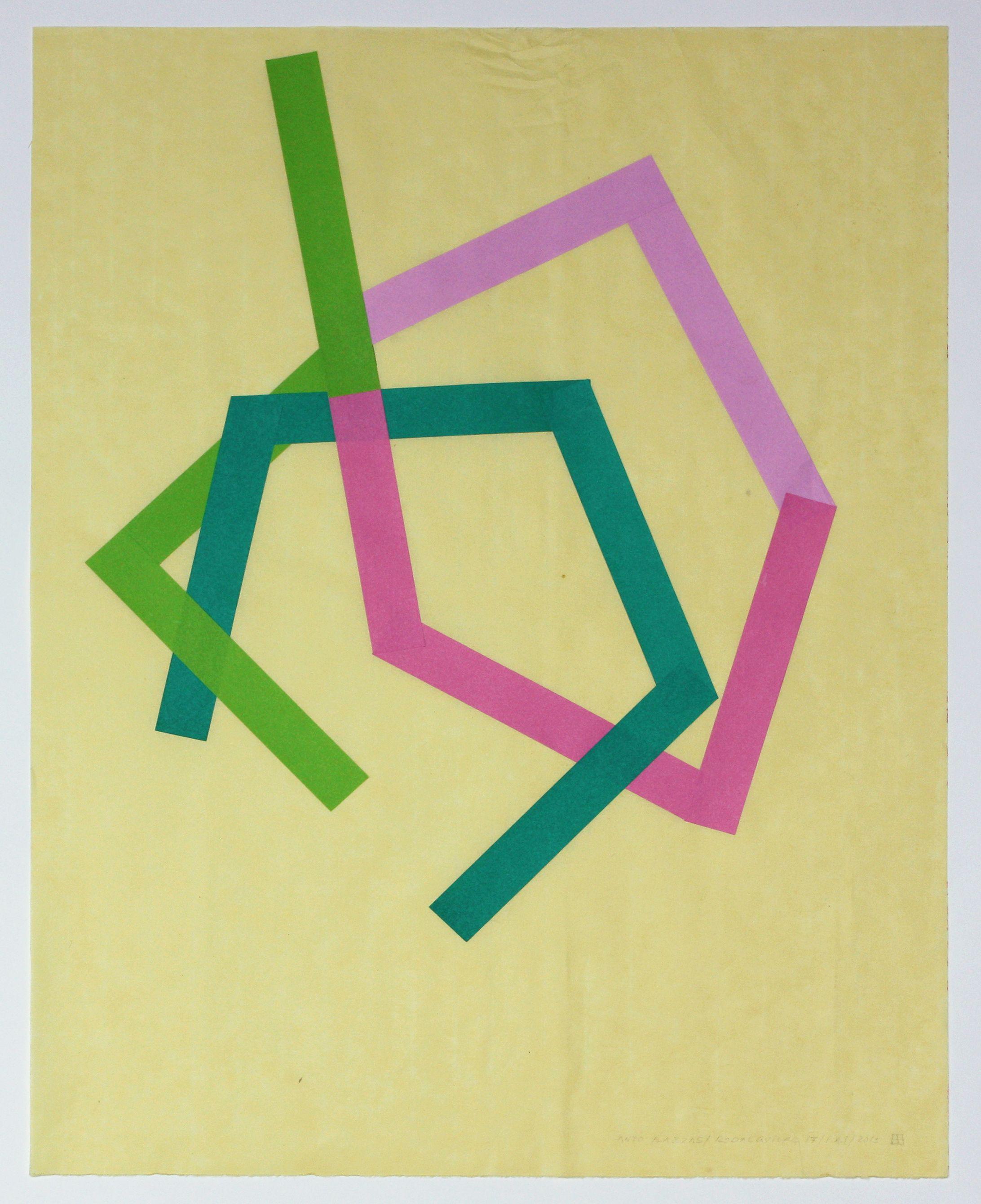Anto Rabzas / Serie Rodalquilar 17 / PA. 1 / 2015 Collage sobre papel de arroz 50 x 40 cm.