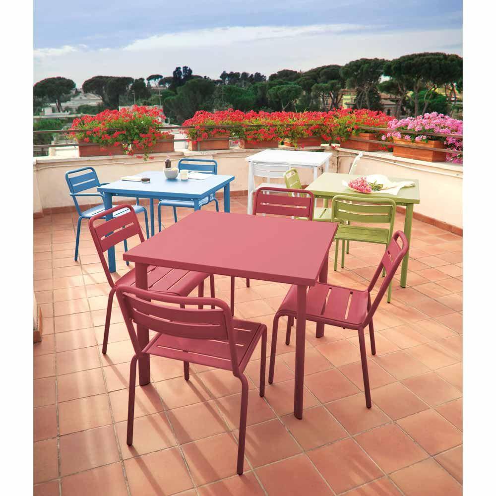 Emu Gartentisch Quadratisch Star Alu Verschiedene Farben Quadratische Tische Gartentisch Aussenmobel