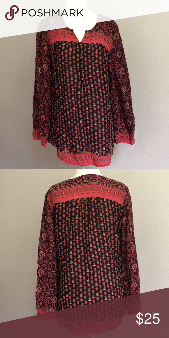 9706edb2a48 Lucky Brand Tunic Lucky brand tunic. Great condition. Love the pattern.  Size Medium Lucky Brand Tops Tunics