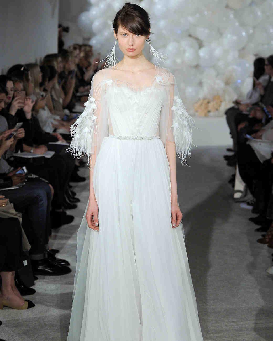 5592103b43b3 Mira Zwillinger Spring 2018 Wedding Dress Collection | Martha Stewart  Weddings – Pastel blue A-line wedding dress