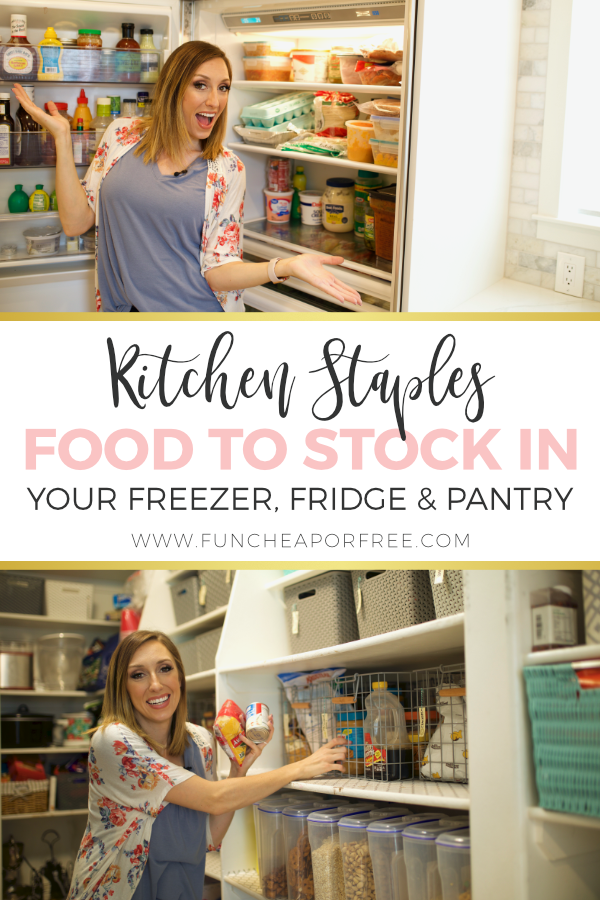 Kitchen Staples To Help You Shelf Cook With Images Food Pantry