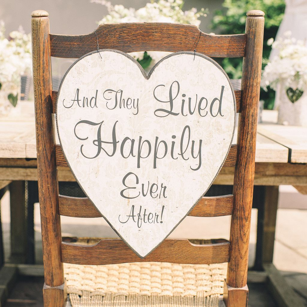 This Hanging Wooden Wedding Sign Is Heart Shaped And Would Look Stunning At A Vintage Inspired Or Country Garden