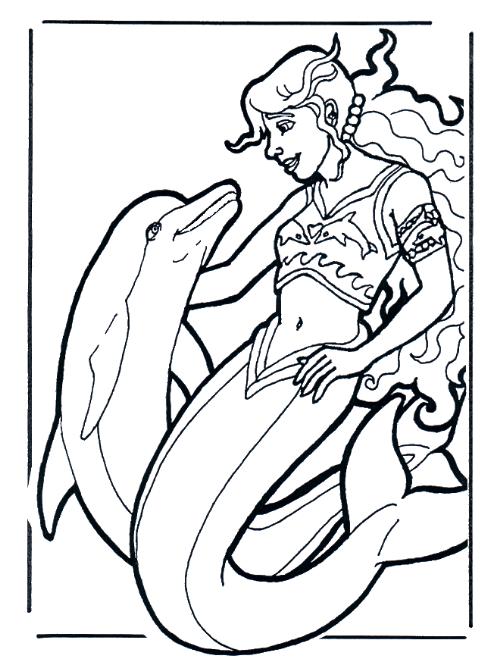 Ausmalbilder Delphin Meerjungfrau Ausmalbilder Ausmalen Meerjungfrau