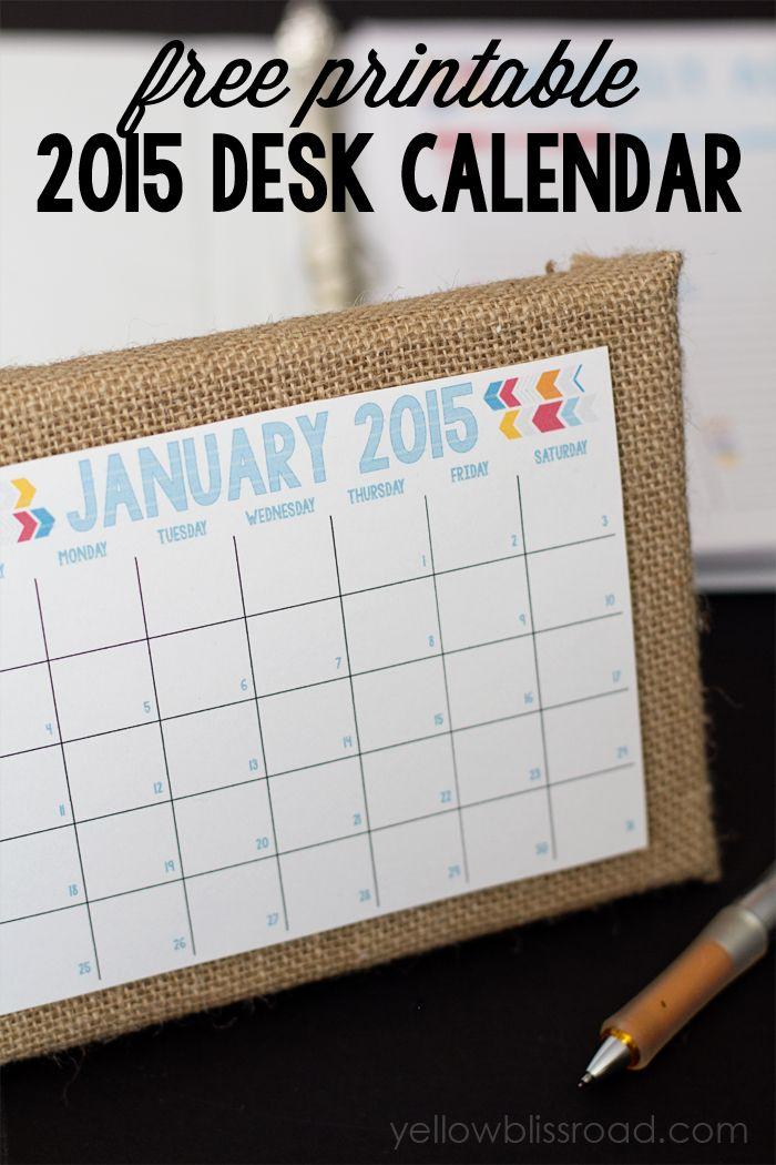 Desk Calendar Printable Idealstalist