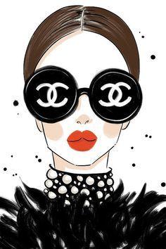 Chanel Sunglasses - Canvas Print