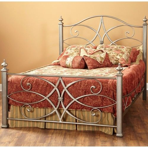 Katrina Iron Bed In German Silver By Largo Furniture Wrought