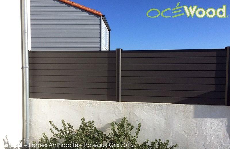 Cloture En Bois Composite Et Pvc Recycle Ocewood Cloture Maison Cloture Bois Cloture Sur Muret