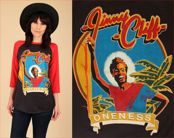 ViNtAgE 80's RARE JIMMY CLIFF Oneness TShirt by hellhoundvintage