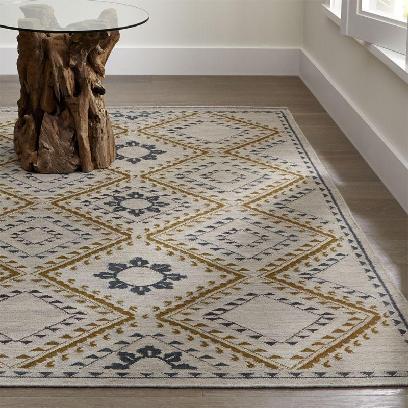 Vienna Wool Dhurrie: Contemporary Rugs: Small & Large Area Rugs
