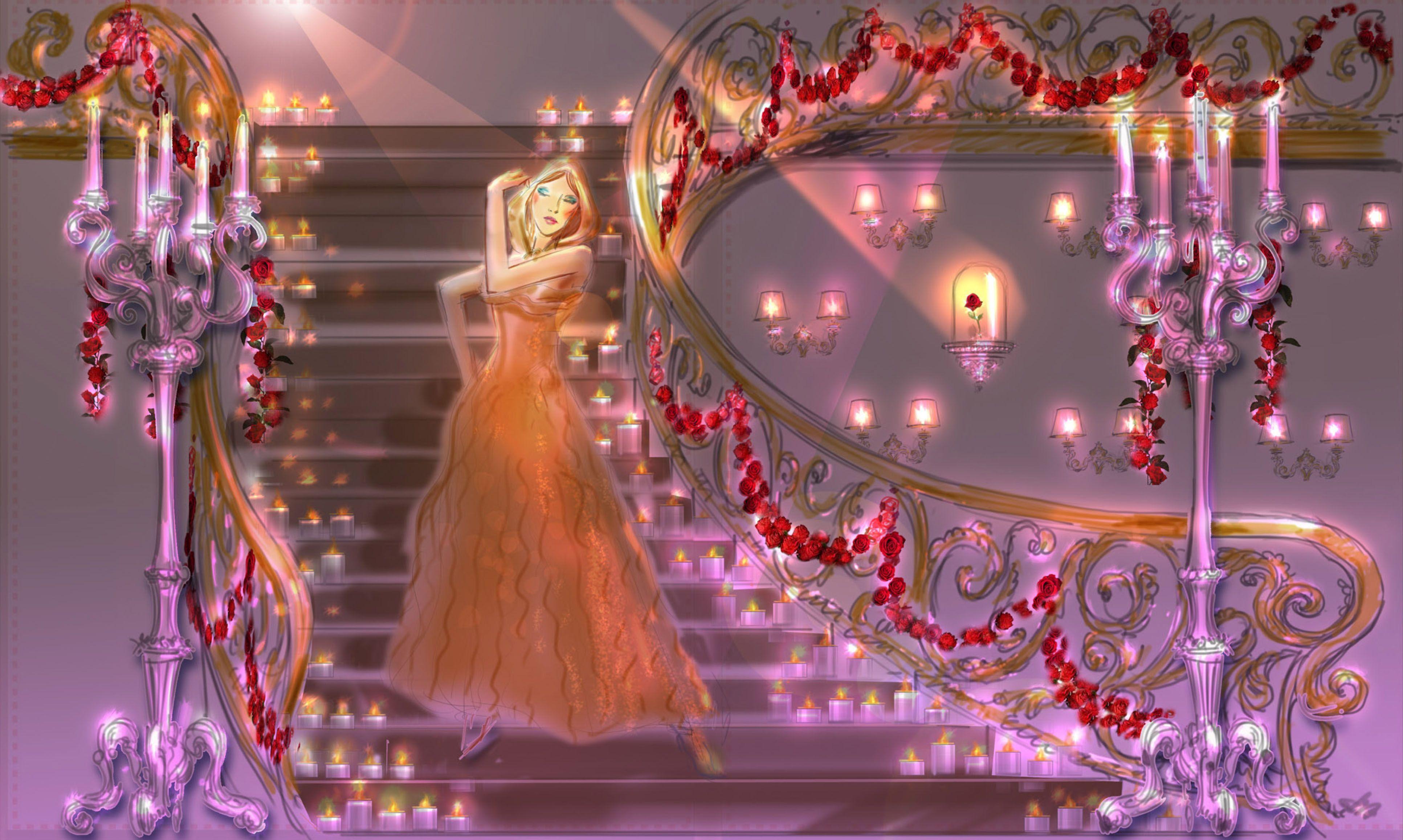 Joyeux Noel Twilight.Once Upon A Dream Harrods Disney Christmas Windows