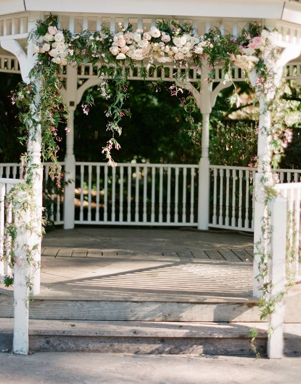Wedding Gazebo With Flower Garland