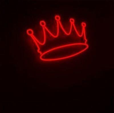 New Red Crown luminosos de néon Decoração De Parede Arte lâmpada Display