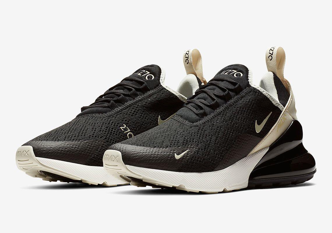 Nike Air Max 270 Black Beige Ah6789 010 Release Sneakernews Com Nike Shoes Air Max Nike Air Max For Women Nike Air Max