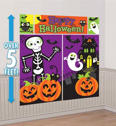 our cute halloween scene setter sets the scene for a fun spook tacular cute halloween scene setter is a great backdrop for photo ops