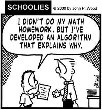 Hey...he knew the word algorithm! :)