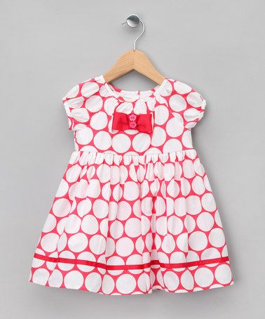 Take a look at this Red & White Polka Dot Puff-Sleeve Dress - Infant by Matilda's Wardrobe on #zulily today!