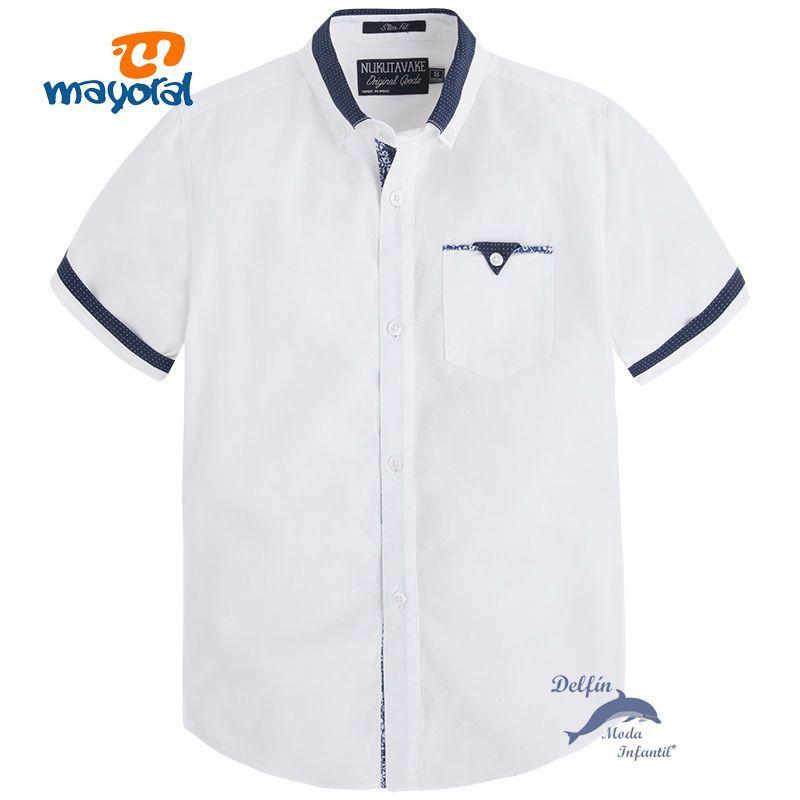 Camisa de niño juvenil MAYORAL de manga corta para vestir  9dba2f4b29d