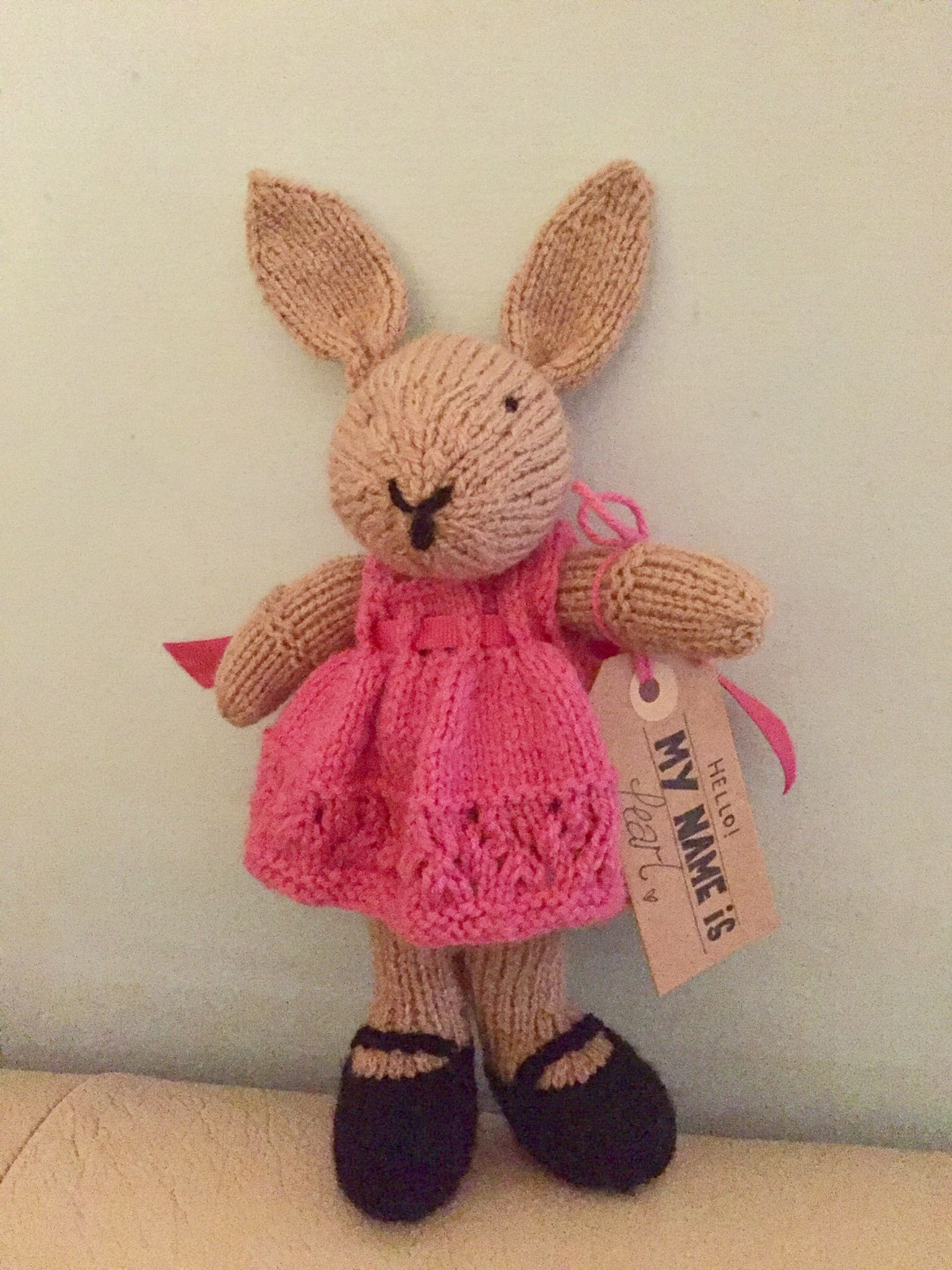 Bunny with tag pattern from little cotton rabbits huge bow on bunny with tag pattern from little cotton rabbits huge bow on the back bankloansurffo Choice Image