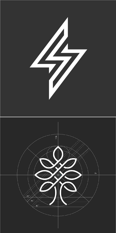 Geometric Minimal logo concept, Best Creative graphic