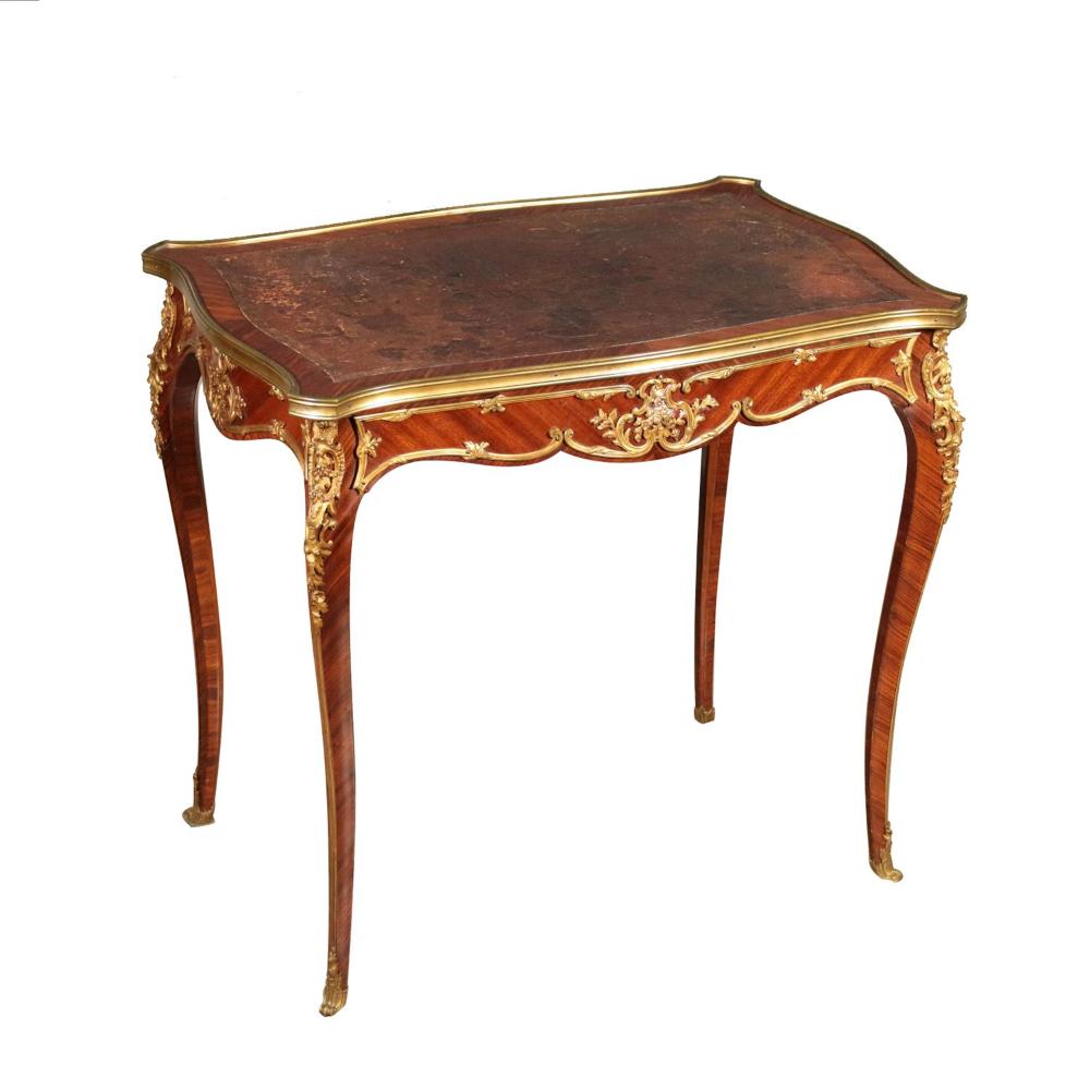 Elegant Petite Table Acajou Palissandre Bronze France 800 Table