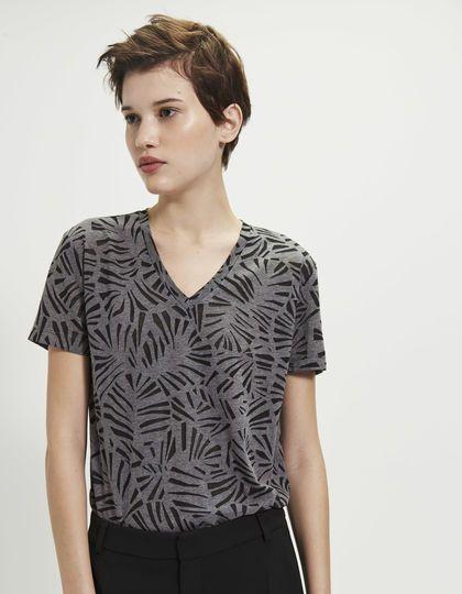 c2597439a3b665 Dames T-shirt bladmotief - IKKS Women