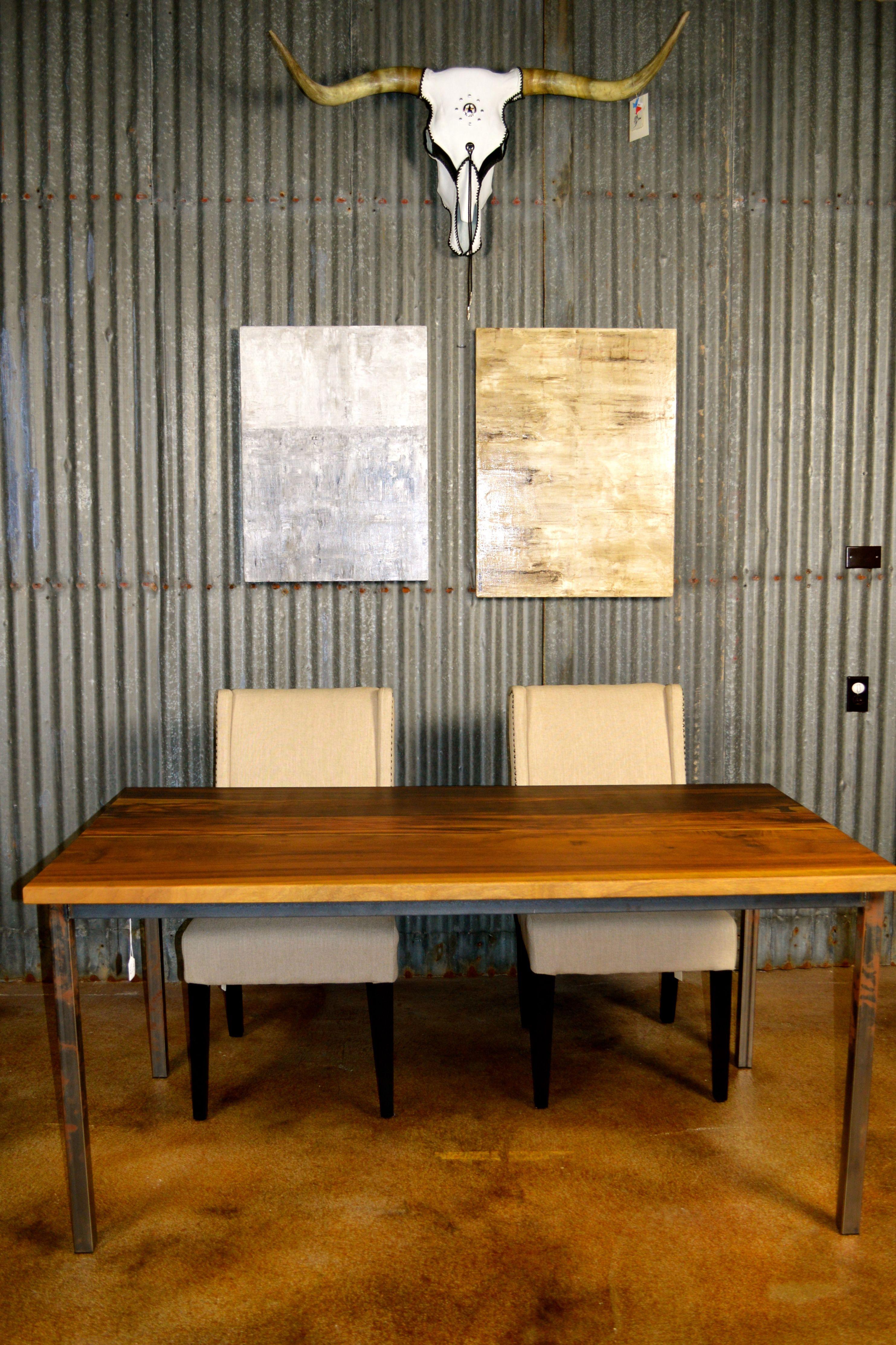 Custom Made Brazilian Imbuia Dining Table   Custom Made   Brazilian Imbuia    Raw Steele Welded. Handmade FurnitureAustin TxDining Tables