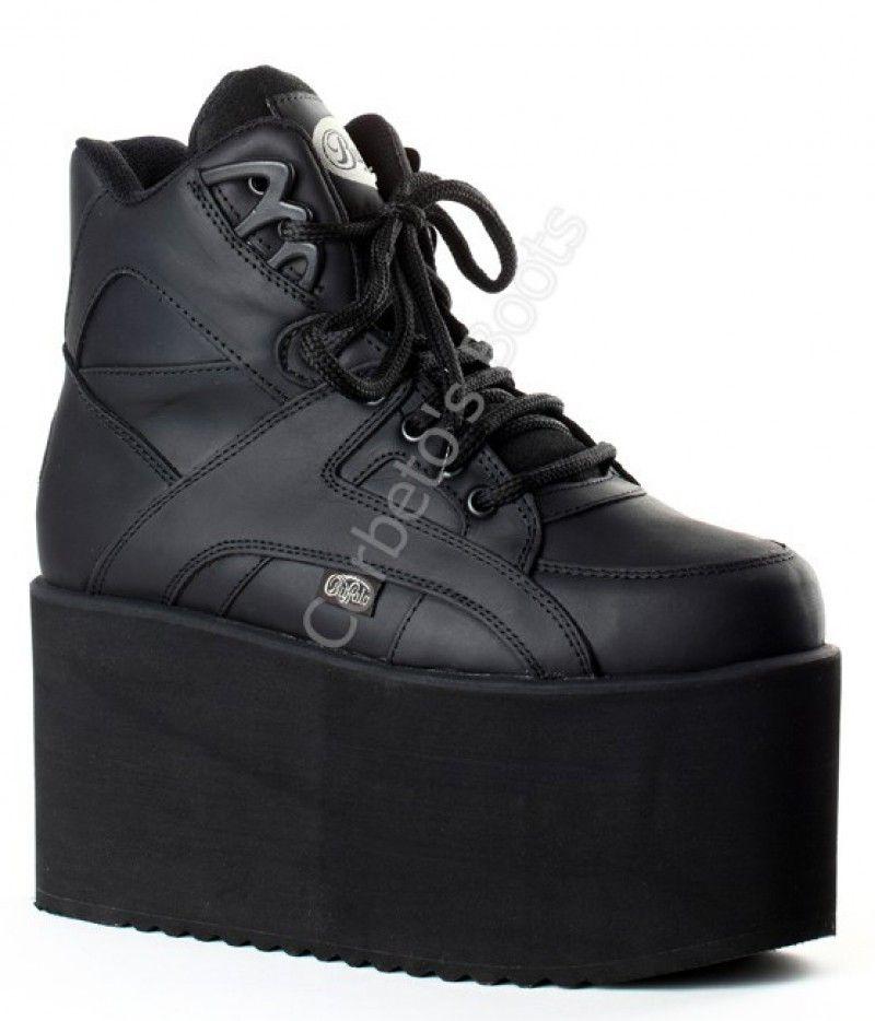 Llega La Corbeto's Negro Zapatilla Buffalo Classic Boots Color En A 0wOXnkP8