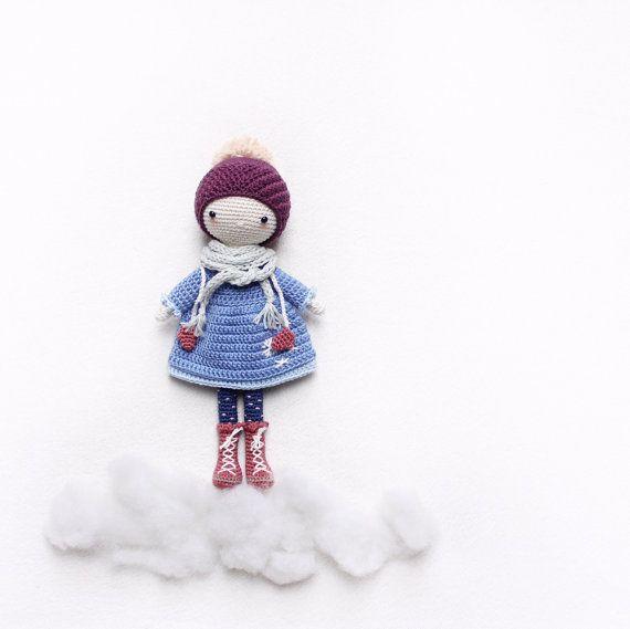 Amigurumi Girl With Umbrella - PDF Pattern | 569x570