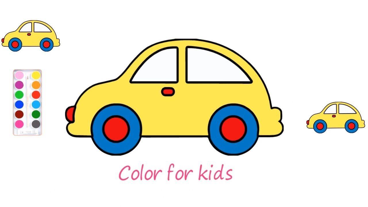 [Hướng dẫn] vẽ ô tô và tô màu cho bé - [Tutorial] car drawing and colori.