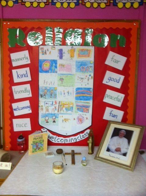 Classroom Prayer Ideas ~ Catholic prayer space for classroom google search