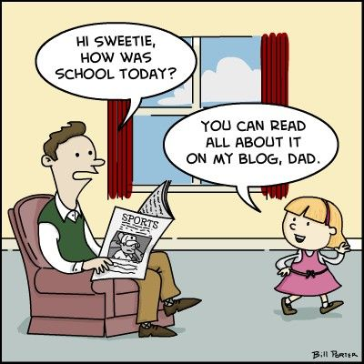 digital natives - Google Search A cartoon image of parent-child ...