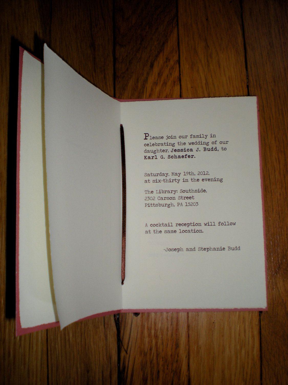 Book Themed Wedding Invitations Sample By Thebirdandthebeard Music