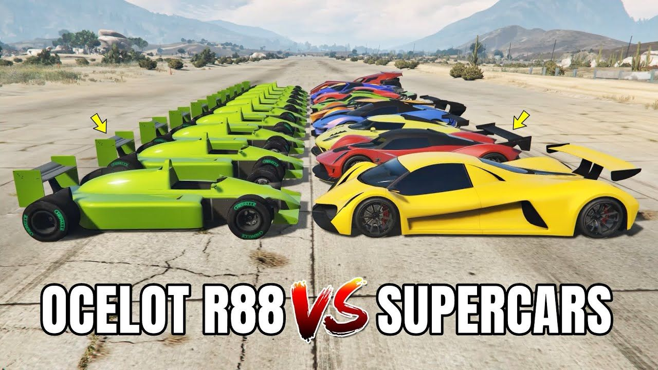 Gta 5 Online 10 Fastest Supercars Vs Ocelot R88 Which Is Fastest In 2020 Gta 5 Gta 5 Online Grand Theft Auto Series
