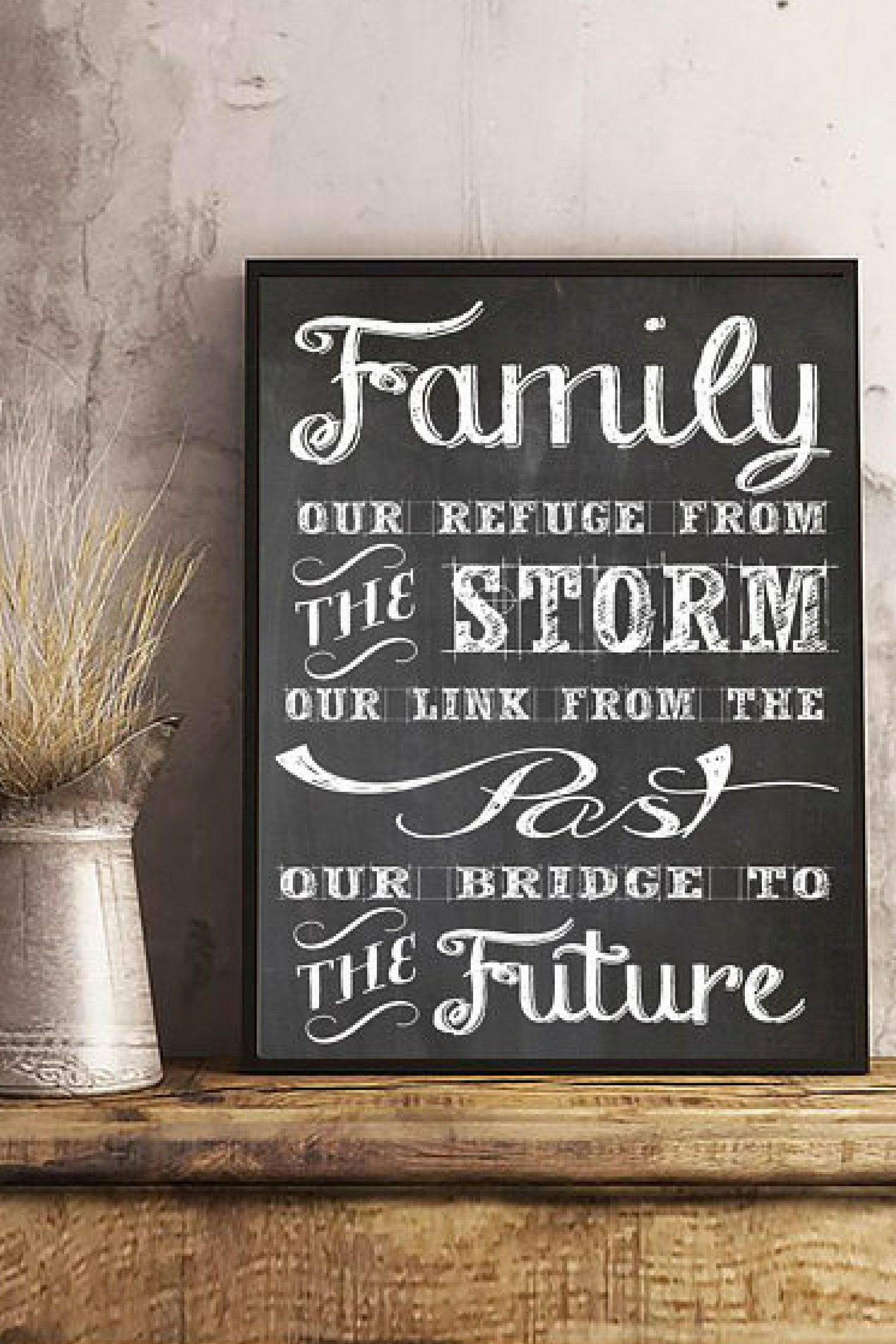 Family Quote Wall Art Quote Inspirational Quote Family