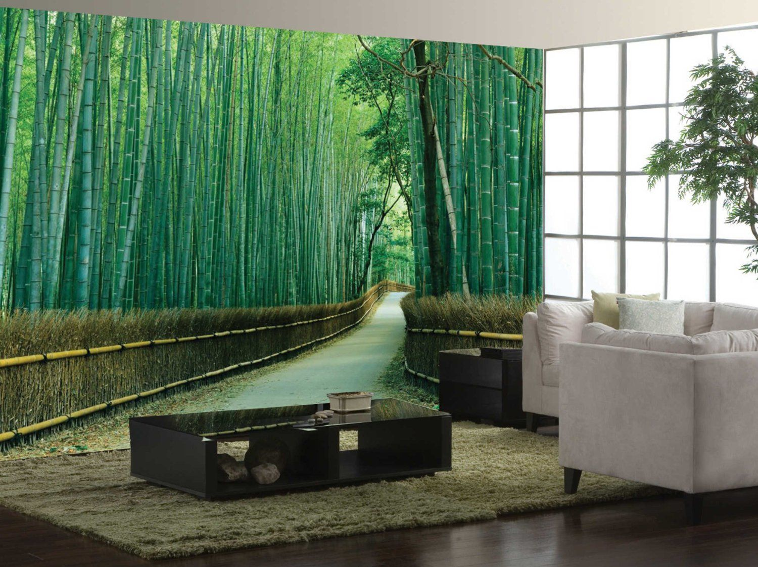 Wall Mural Ideas For Living Room Wallpaper Buying Tips You Must Know Bamboo Forest Wall Mural Ideas