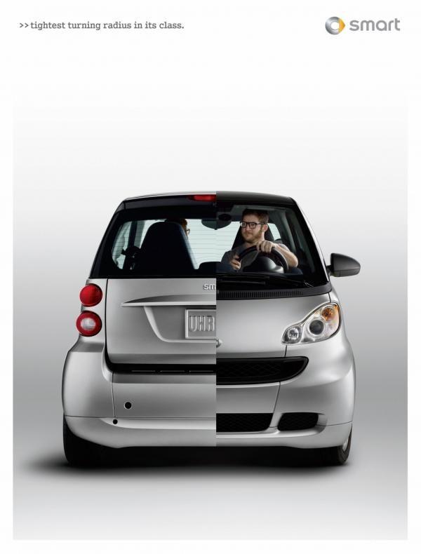 Smart Cars Split Print Ad By Merkley Partners