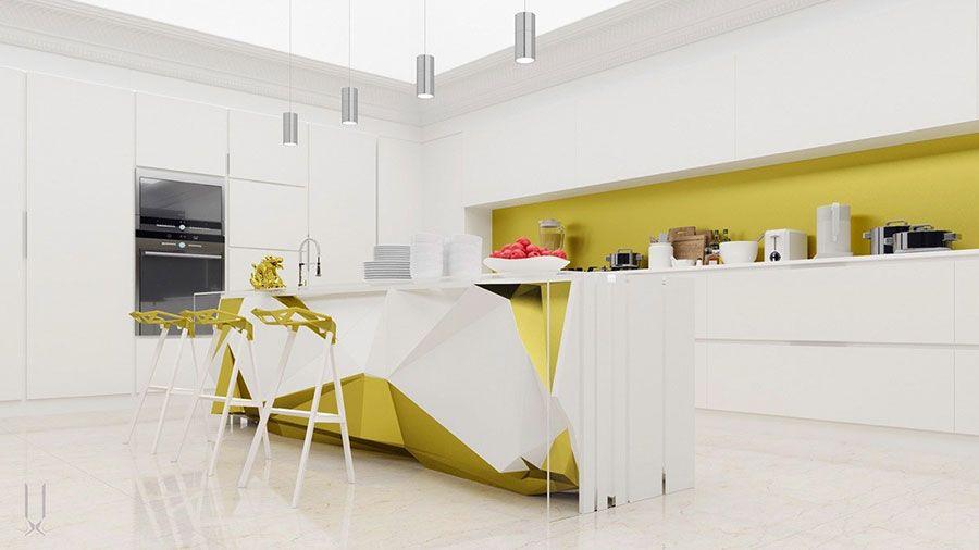 35 Idee per Colori di Pareti di Cucine Moderne ...