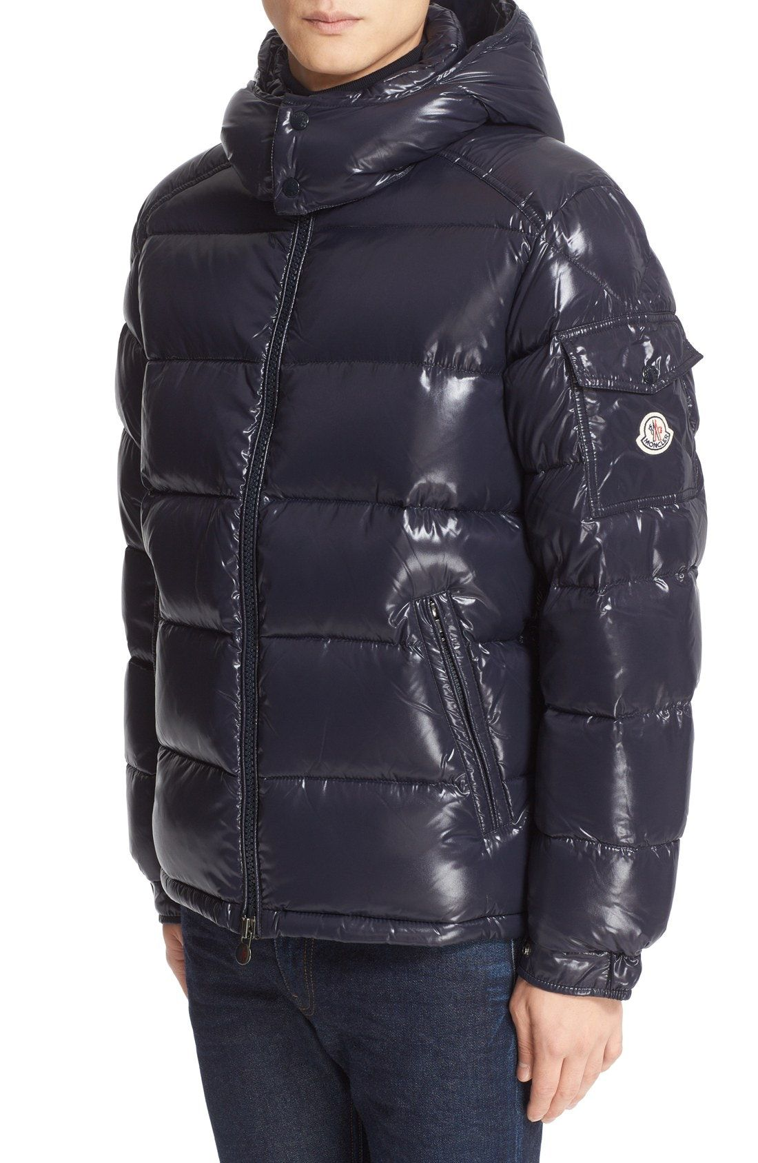 New Moncler Maya Lacquered Down Jacket ,BLACK GREY ASSORTED fashion online. [$1070]wooclo top<<