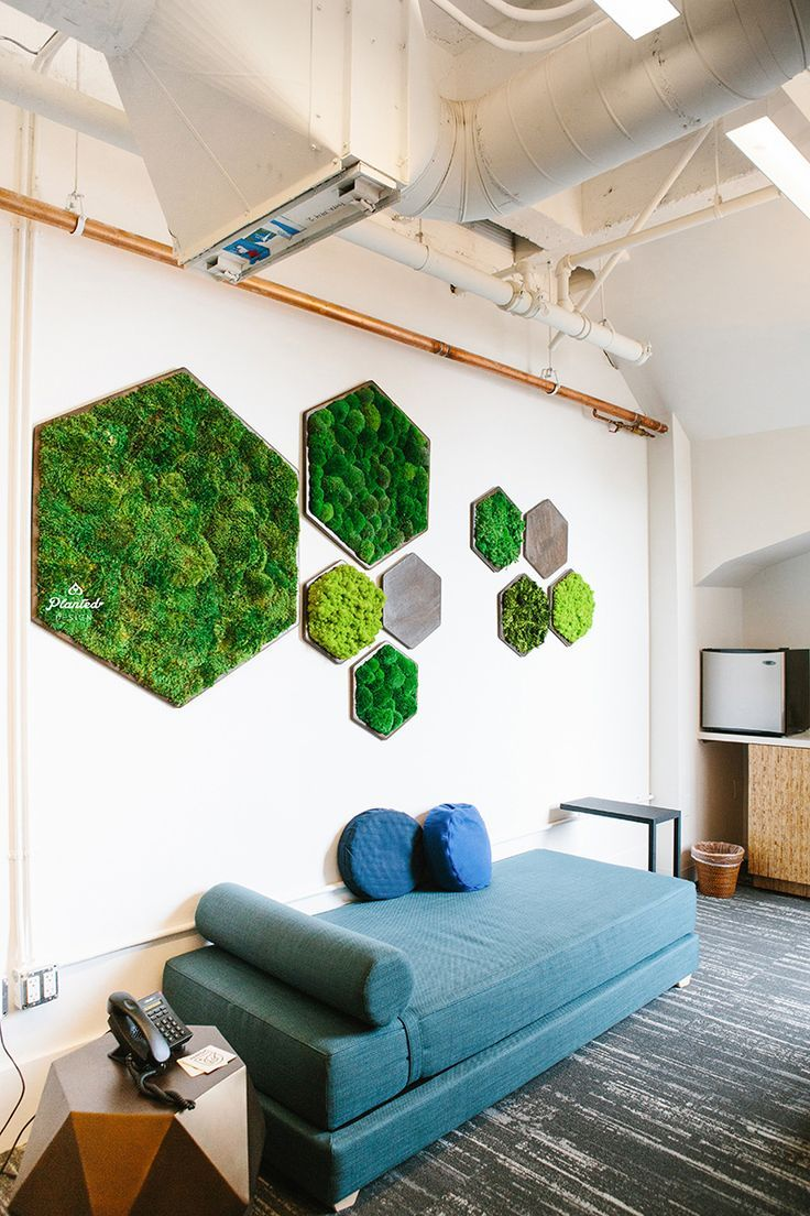 Hex Moss Wall A Brilliant Idea To Combine The Nature To Your Office Office Ironageoffice Greenoffice Http Www Haus Deko Moos Dekor Einrichten Und Wohnen