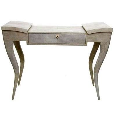 R & Y Augousti Paris Elegant Deco Shagreen Leather Writing Desk 42